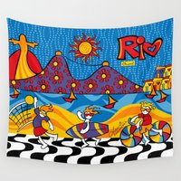 rio Wall Tapestries featuring Rio New by Monica Fuchshuber