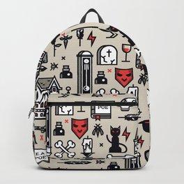Edgar Poe Pattern Backpack