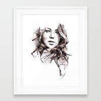 jennifer lawrence Framed Art Prints featuring Jennifer Lawrence by dariemkova
