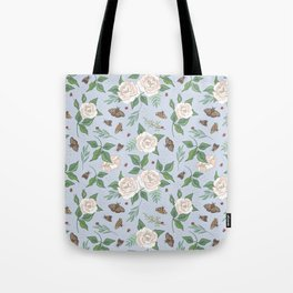 Roses, Moths and Ladybirds Tote Bag