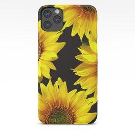 Large Sunflowers on a black background #decor #society6 #buyart iPhone Case