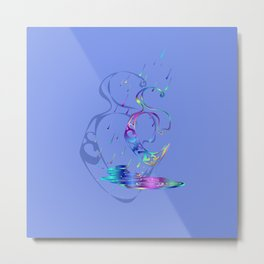 Enochian Rain (Blue) Metal Print