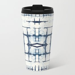 Faded Japanese Shibori Travel Mug