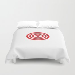 Target with Heart Duvet Cover