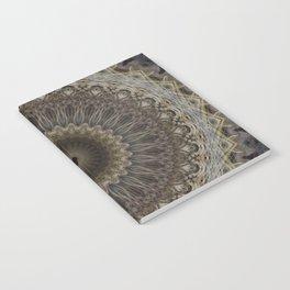 Mandala in warm brown and gray tones Notebook