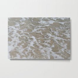 Foam of the ocean Metal Print