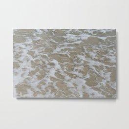 Foam of the ocean Metal Print