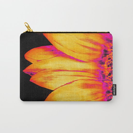 Sunflower Pink Yellow Carry-All Pouch