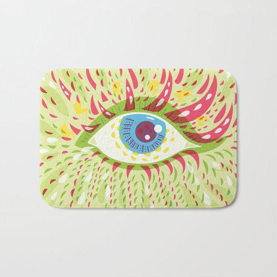 Front Looking Psychedelic Eye Bath Mat