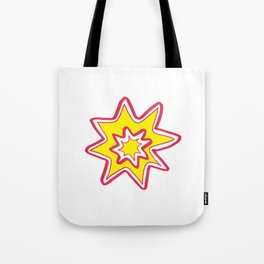 POW! - yellow, red, white Tote Bag