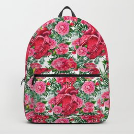 Watercolor heart with floral design Backpack