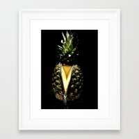 pinapple Framed Art Prints featuring Zip It by Ivovuk