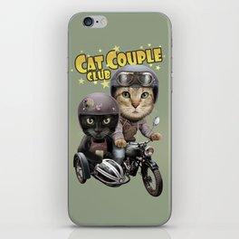 CAT COUPLE CLUB iPhone Skin