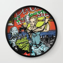 Dave Vs The Monsters Wall Clock