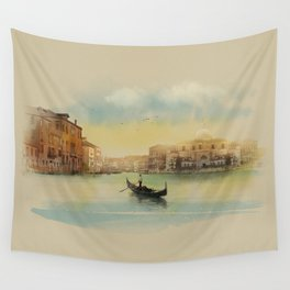 Early morning in Venice Wall Tapestry