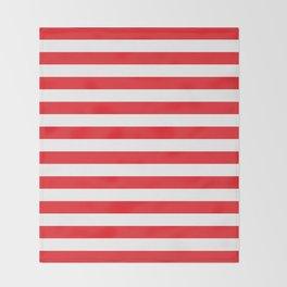 Horizontal Red Stripes Throw Blanket