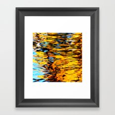 Liquidum Ignis. Fall Tree Reflections in a Pool of Water Framed Art Print