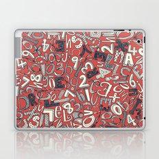 A1B2C3 coral red Laptop & iPad Skin