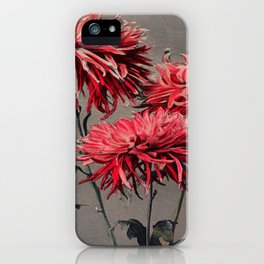 Red Flower Traditional Japanese Flora iPhone Case