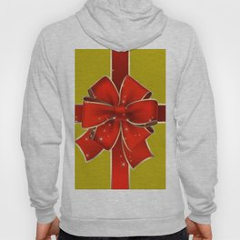 Red Bow on Gold Hoody