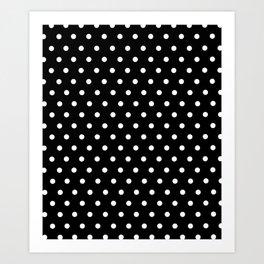 Polka dot black and white classic design Art Print