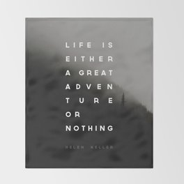 Adventure or Nothing Throw Blanket