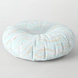 Rainbow Swirls with Clouds Floor Pillow