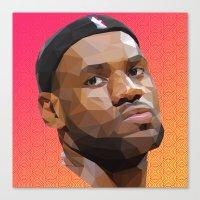 lebron Canvas Prints featuring Bron Bron by Joshua Burkett Designs