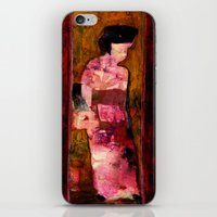 geisha iPhone & iPod Skins featuring Geisha by agnes Trachet