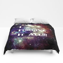 Blue Brown Galaxy : I Forgive It All! Comforters