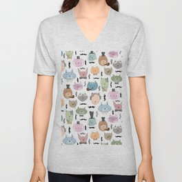 Aristocats Seamless Pattern Unisex V-Neck