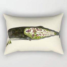 Botanical Whale Rectangular Pillow