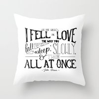 fault in our stars Throw Pillows featuring The Fault in our Stars by Chan Xing Yun