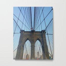 Brooklyn Bridge (in color) Metal Print