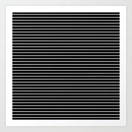 MINI STRIPES - BLACK Art Print