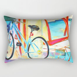 Bike and A Boat Rectangular Pillow