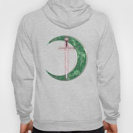 Green Celtic Moon Hoody