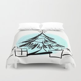 Holiday Greetings Duvet Cover