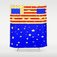 america Shower Curtains featuring Mr. America  by Latidra Washington