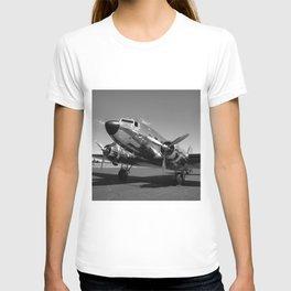 Douglas DC-3 Dakota Chrome Art Deco Airplane black and white photograph / art photography by Brian Burger T-shirt