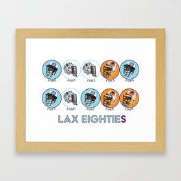Lax Eighties Framed Art Print