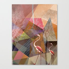 FLAMINGOS P23-C Canvas Print