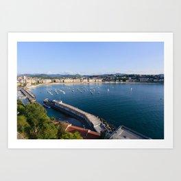 La Concha Bay. Donostia-San Sebastian, Spain. Art Print
