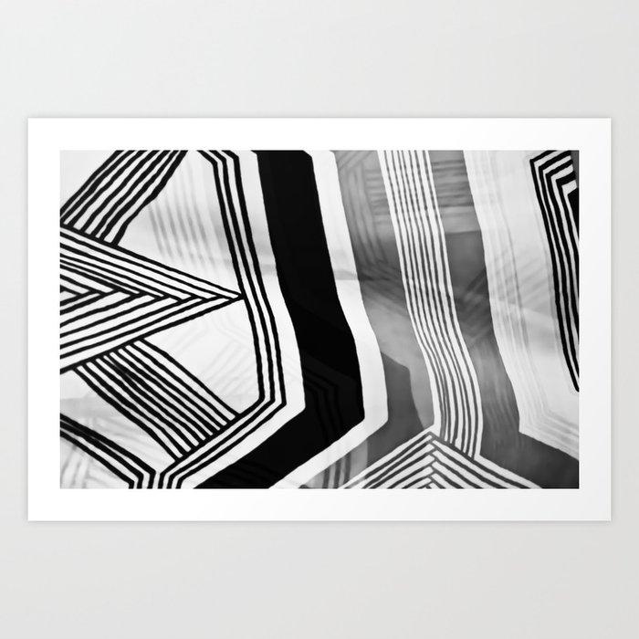 Modern Zebra Abstract Art Print