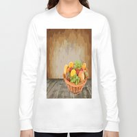 fruit Long Sleeve T-shirts featuring fruit by Shea33