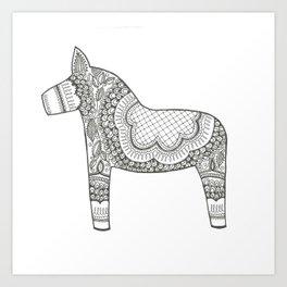 Dala Swedish Horse  Art Print