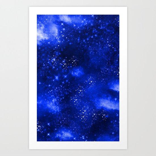 Galaxy Blue Art Print
