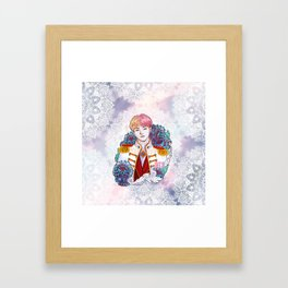BTS V, King Taehyung, Kings of KPOP, Love Yourself, Boy With Luv Framed Art Print