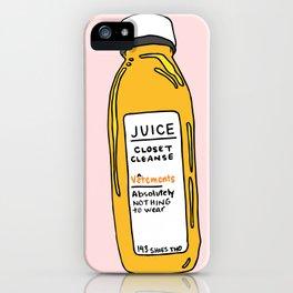 Pressed Juice: Closet Cleanse iPhone Case