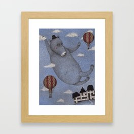 Bear in the Air Framed Art Print